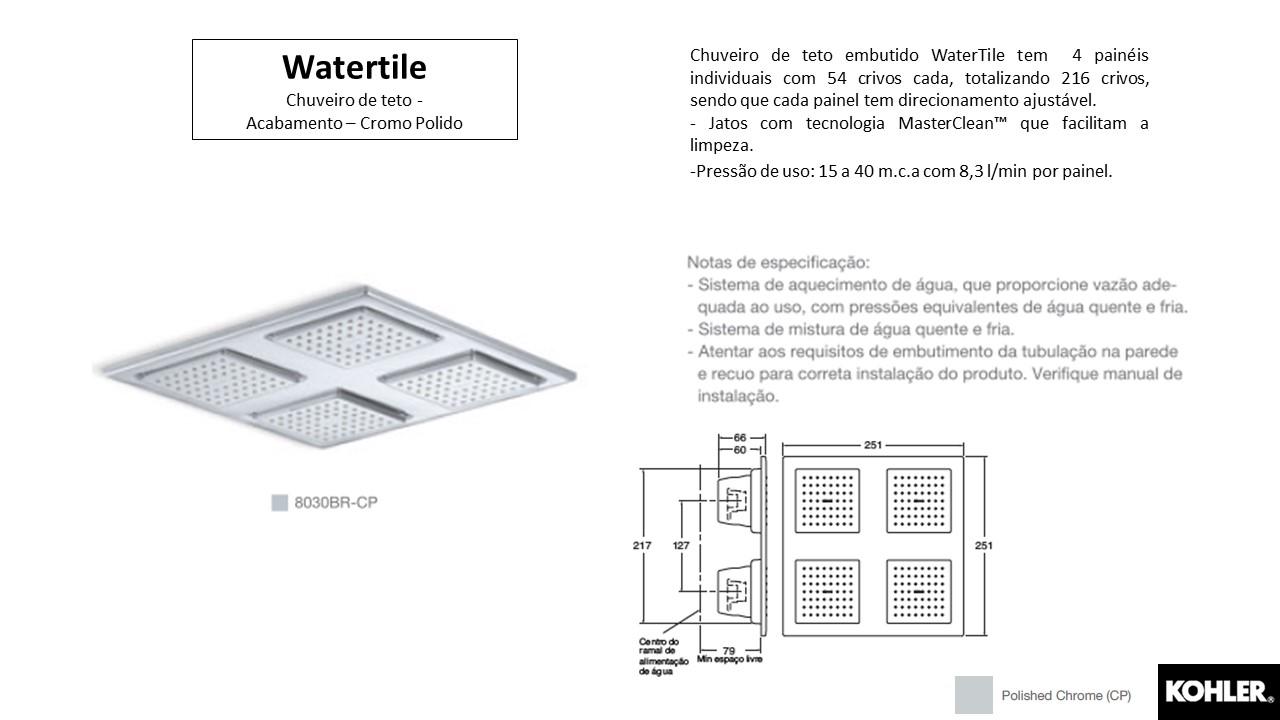 Chuveiro Watertile- Kohler - TerraTile