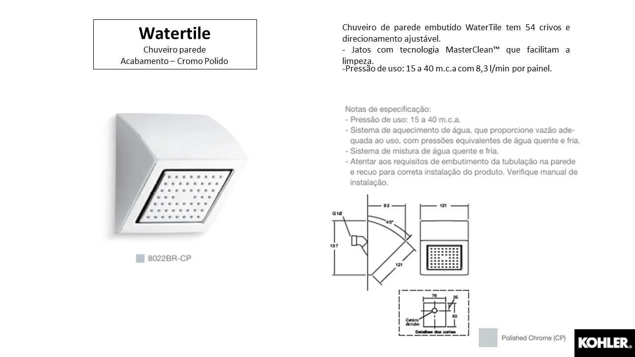 Chuveiro de Parede Watertile - Kohler - TerraTile
