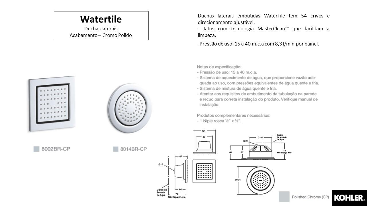 Duchas laterais Watertile - Kohler - TerraTile