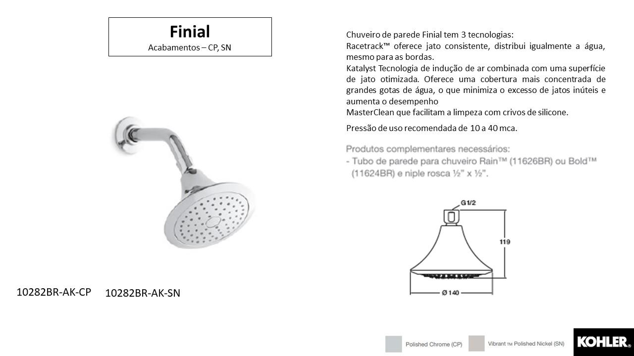 Chuveiro Finial - Kohler - TerraTile