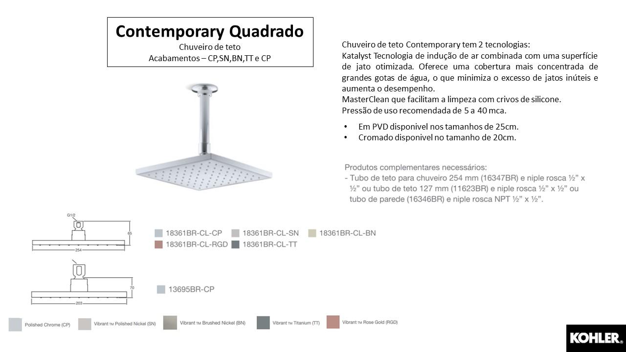 Chuveiro Contemporary Quadrado - TerraTile