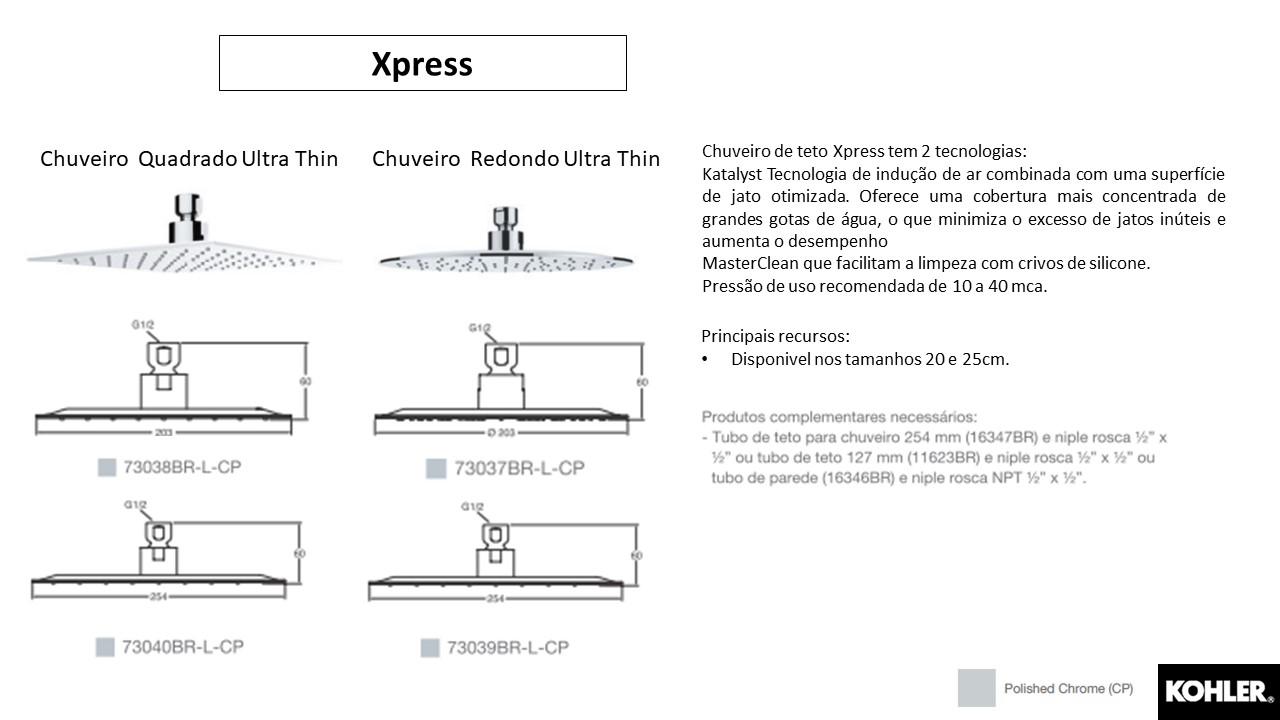 Chuveiro Xpress- Kohler - TerraTile