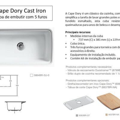 Cuba Cape Dory Cast Iron - Louças e Metais - TerraTile